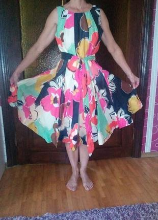 Платье летнее женские с принтом.