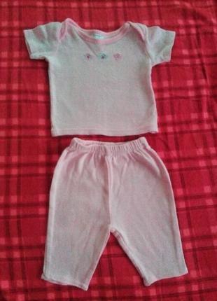 Комплект для новорожденных. футболка и штаны.