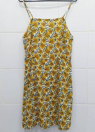 Нежное шифоновое платье сарафан на тонких брeтелях