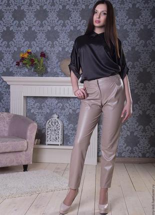 Vip! шикарные брюки из 100 %  кожи /брюки кожаные /брюки /штан...