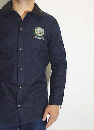 Мужская стеганая куртка barbour polo club lidesdale regimental...