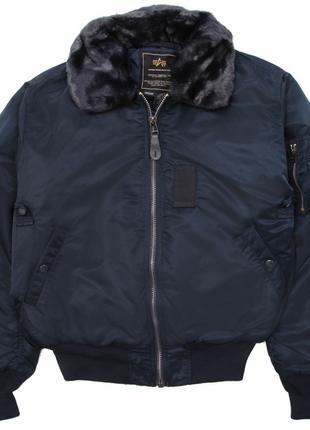 Льотна куртка B-15 Alpha Industries (синя)