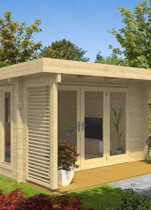 Дом деревянный из профилированного бруса 5.2х6.7.