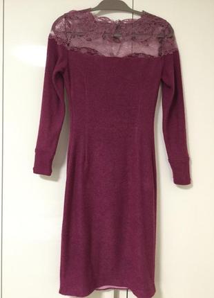 Платье женское на 44 размер гипюровый верх дизайнерский пошив