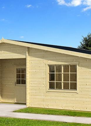 Дом деревянный из профилированного бруса 10.5х6.