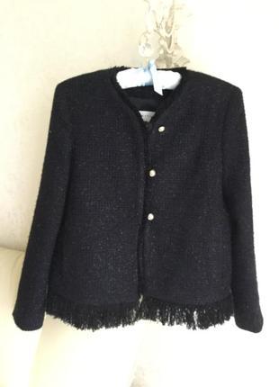 Пиджак sandro, оригинал новый. новая коллекция. натуральный со...
