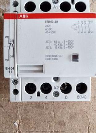 Контактор ABB ESB 63-40, 230 В, 4НО