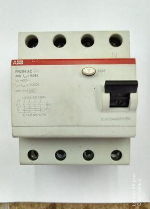 УЗО ABB FH204 AC-25/0,03, 25 А, 30 мА, AC