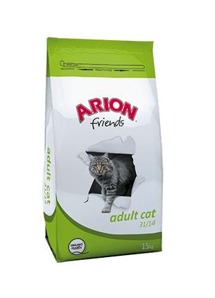 Корм для взрослых кошек Arion Friends Adult Cat с курицей, 15 кг