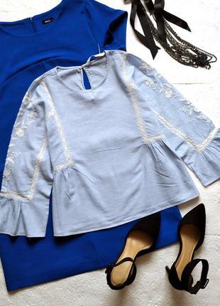 #розвантажуюсь  изысканная блуза zara с вышивкой и кружевом, б...