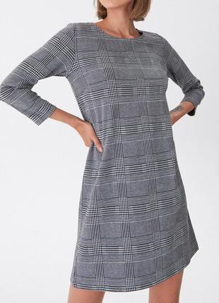 Платье в клетку house h&m,zara
