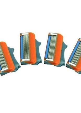Сменные лезвия кассеты для бритья Gillette Fusion Power