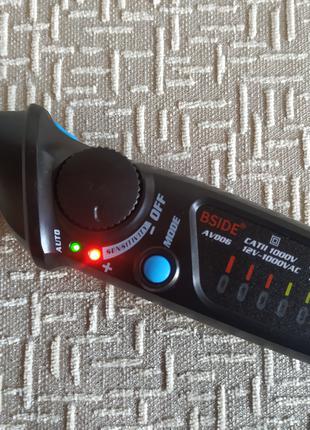 Бесконтактный тестер индикатор напряжения BSIDE AVD06 прозвонка,