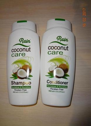 Набор для волос питательный  шампунь и кондиционер с кокосовым...