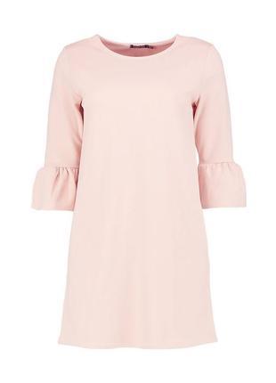 Платье свободного силуэта, пастельно розовый цвет, s