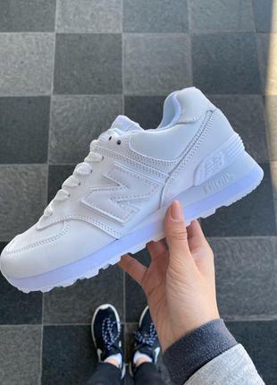 New balance 574 white, женские кроссовки