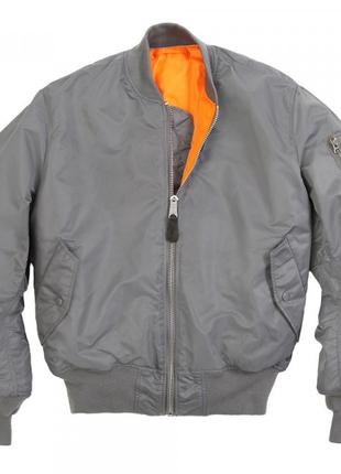 Льотна куртка MA-1 Alpha Industries (воронений метал)