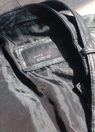 Кожаная куртка ZARA (мужская)
