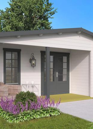 Дом деревянный из профилированного бруса 7.3х5