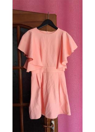 Короткое платье выпускное с воланами
