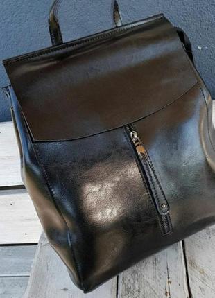 Кожаный женский рюкзак портфель жіночий шкіряний