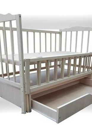 Кровать кроватка Белая детская маятник шарнир ящик Новые