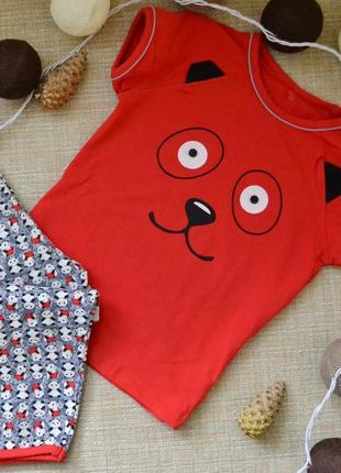 Пижама костюм комплект мишка 1-3.5 года
