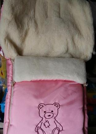 Конверт на овчине в коляску санки Новые