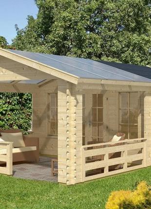 Дом деревянный из профилированного бруса 3.8х6.1.