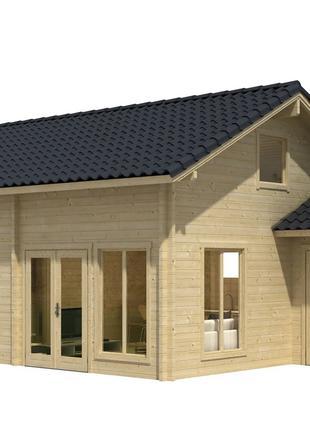 Дом деревянный из профилированного бруса 7.4х5.4.