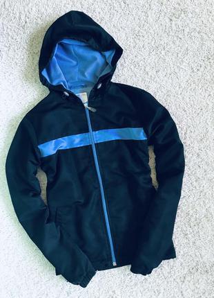 Куртка с лампасами ветровка спортивная с капюшоном
