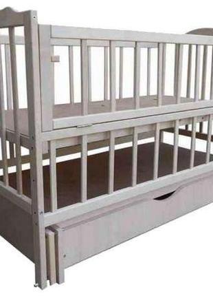 Детская кроватка кровать белая маятник шарнир ящик Новые