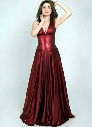 Вечернее платье цвет марсала