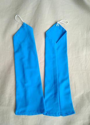 Перчатки бирюзовые детскиее нарядные