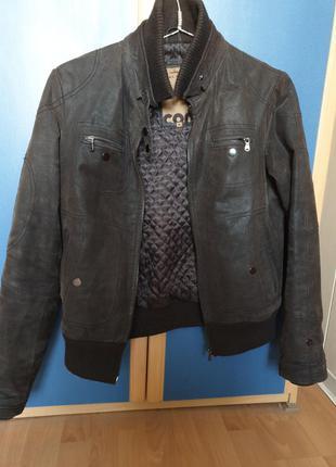Куртка мужская кожа VERA PELLE р46 в отл состоянии