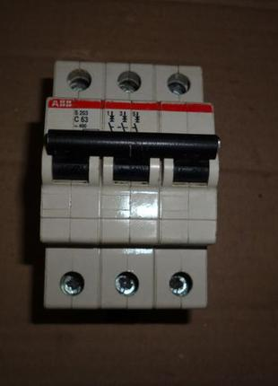 Автомат защиты цепи автоматический выключатель ABB S203-C63 3х...