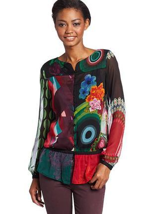 Красивейшая блуза блузка шифон desigual бесплатная доставка