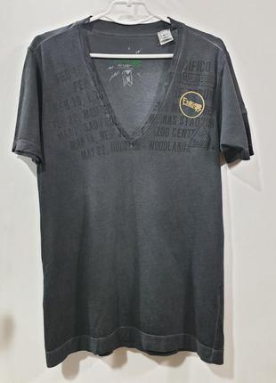 Мужская крутая футболка с v образным вырезом sixty energie