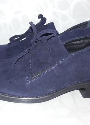 Шкіряні туфлі-мокасини, броги, сліпони