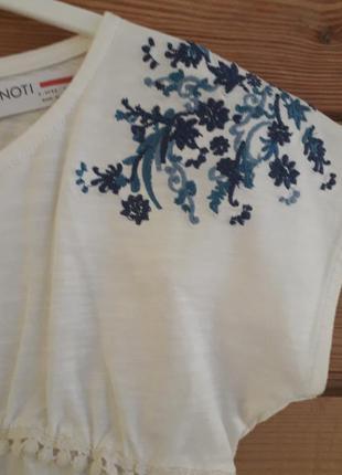 Стильный летний комплект для девочки minoti с вышивкой