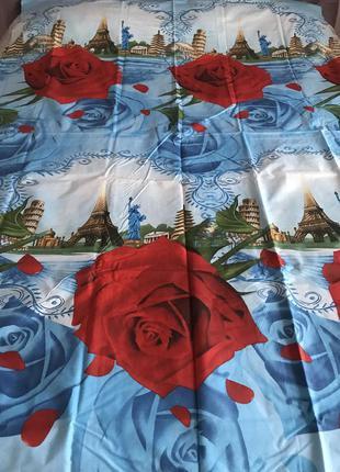Постельный комплект полуторный розы париж