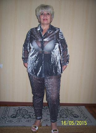 Летний костюм для пышных дам 56 размер