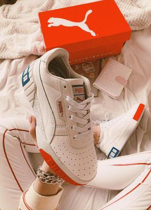 Шикарные женские кожаные кроссовки/ кеды puma белого цвета 😍 (...