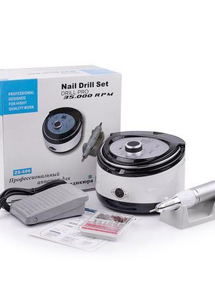 Фрезер для маникюра Nail Drill ZS-606 SILVER (65 Вт/35000 об)