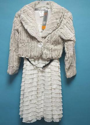 Нарядное платье для девочек винтаж 128,134,140 польша