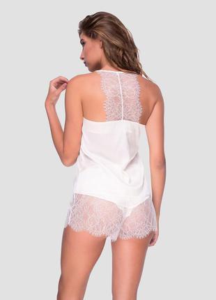 Пижама из вискозного шелка с кружевной спинкой ручной работы о...