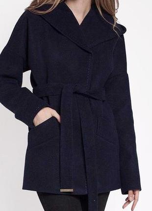 Кашемировое пальто-халат с капюшоном, пояс, весеннее, демисезон
