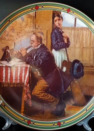 """Продам фарфоровую, американскую тарелку """"Магия музыканта""""."""