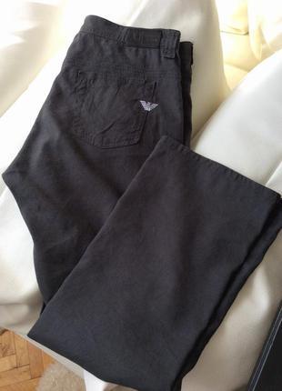 Укороченные брюки лён armani jeans