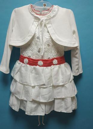 Нарядное платье для девочек 110,116,122 р. польша